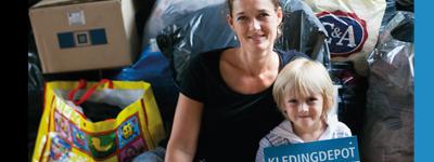 vrijwilligerswerk, sam's kledingactie voor mensen in nood