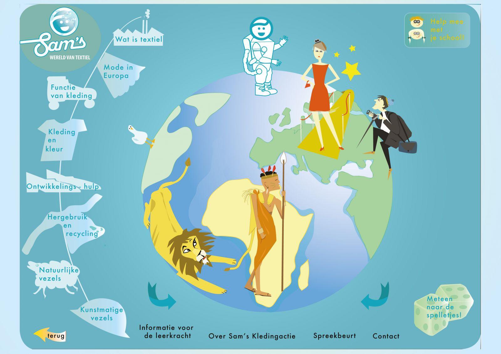 Sam's Wereld van Textiel, educatieve website voor het basisonderwijs