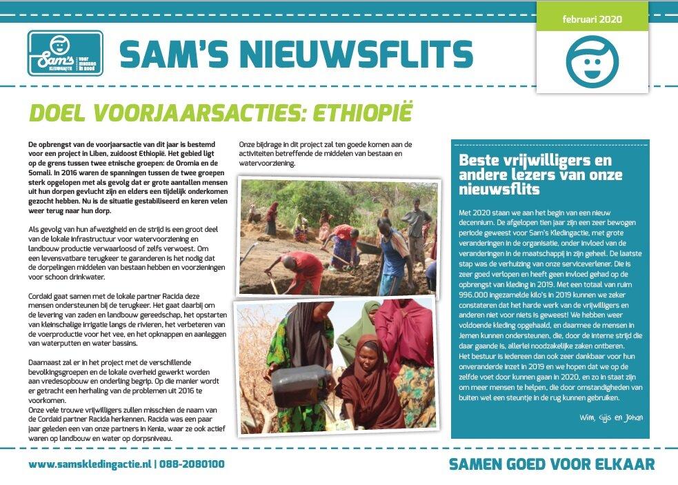 Sam's Nieuwsflits februari