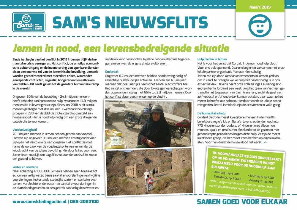 Sam's Nieuwsflits maart